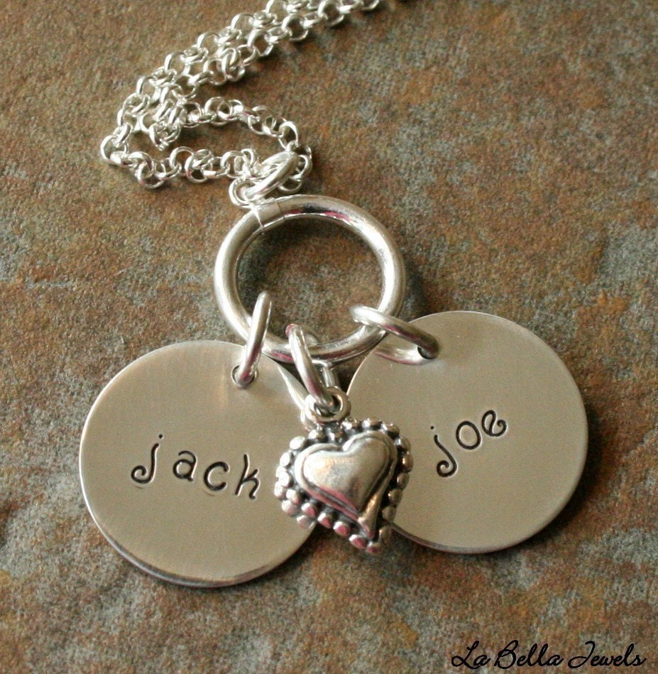 My Heart Stamped Disc Necklace