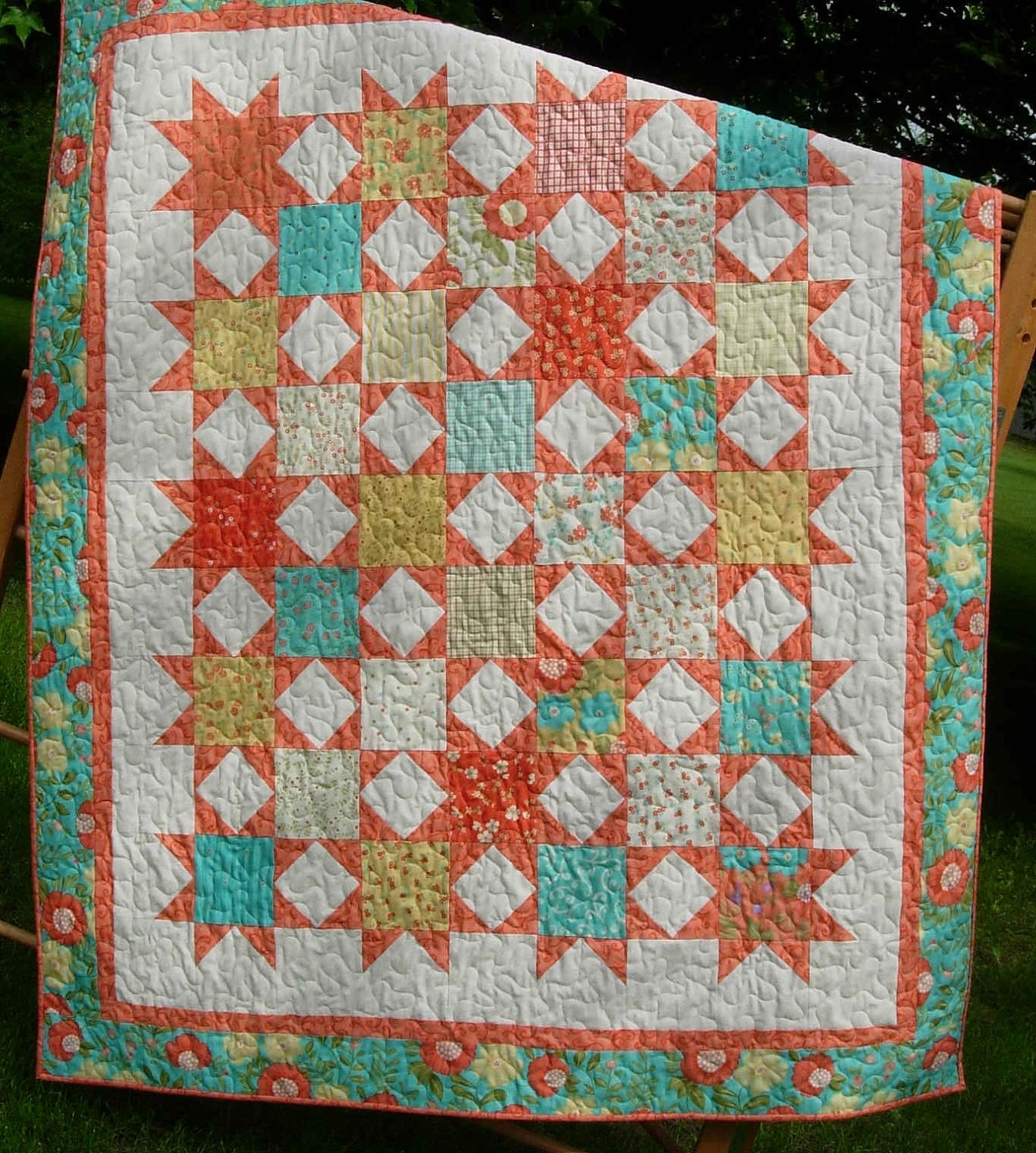Twinkle Twinkle Nickel Stars EaSy Quilt by LittleLouiseQuilts