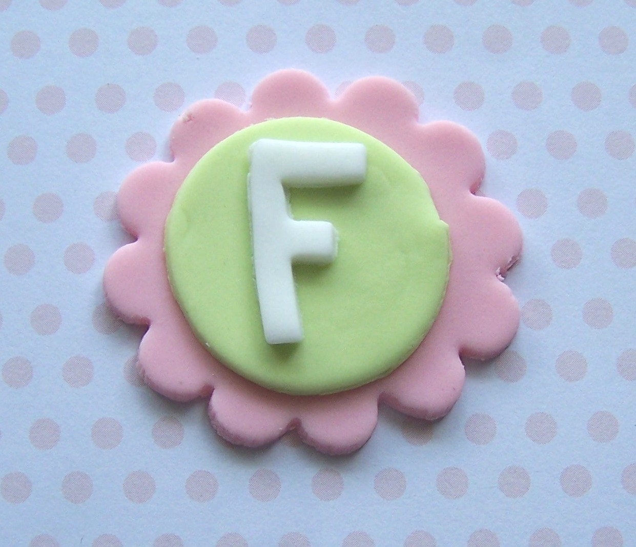 Cake Decorations Edible Numbers : Fondant Cupcake Topper Edible Monogram Letters by ...