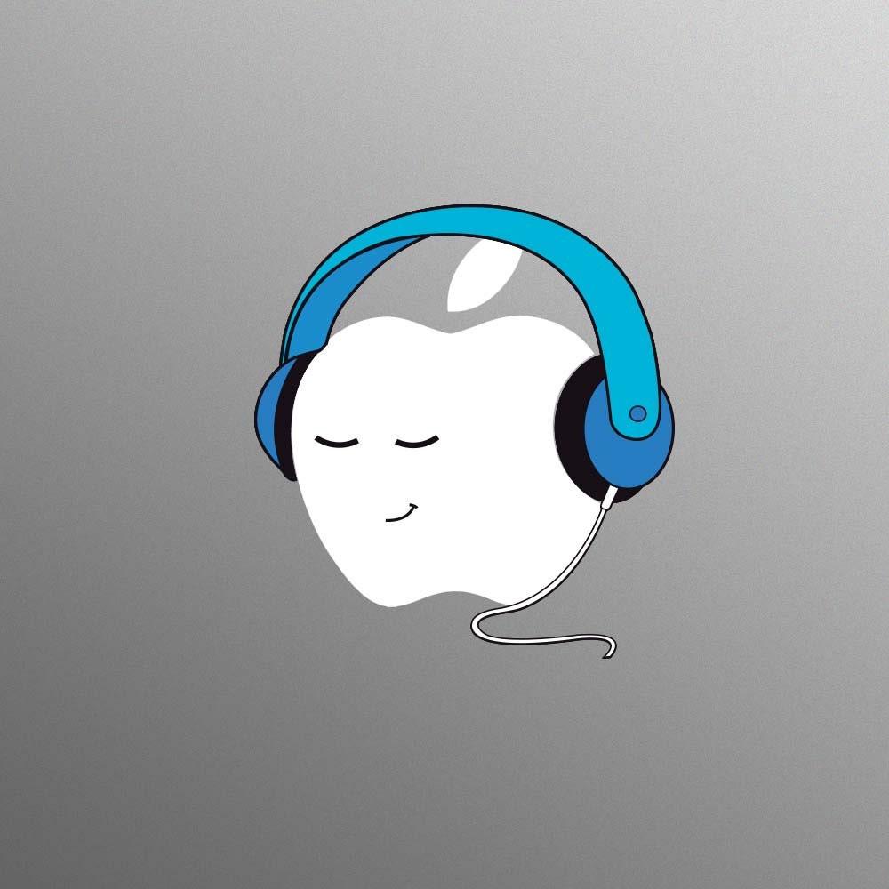 Blue Headphones Decal Laptop Sticker for Apple MacBook  Pro  Air
