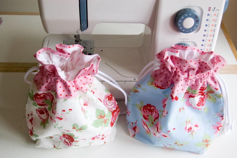 Pretty Handmade GiftToiletryWashDrawstring Bag  Cath Kidston  Rosali  Ikea