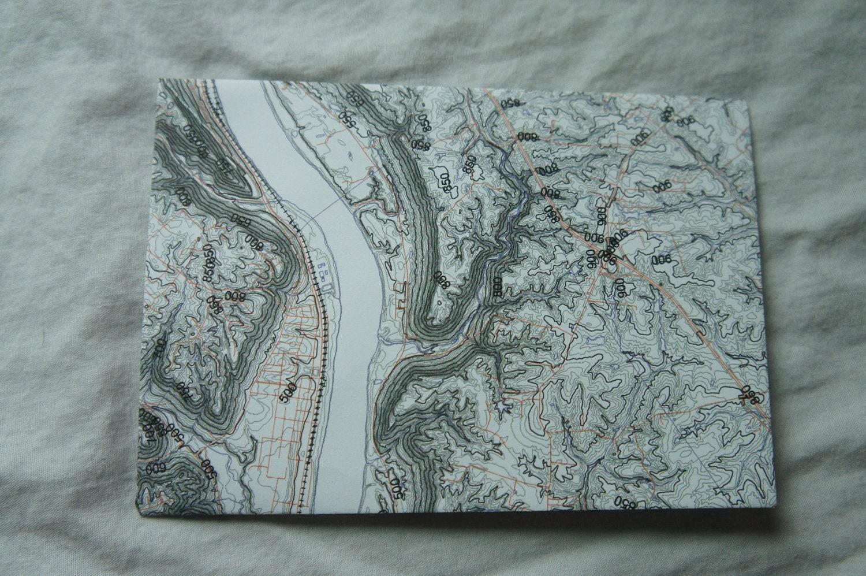 set of five map envelopes
