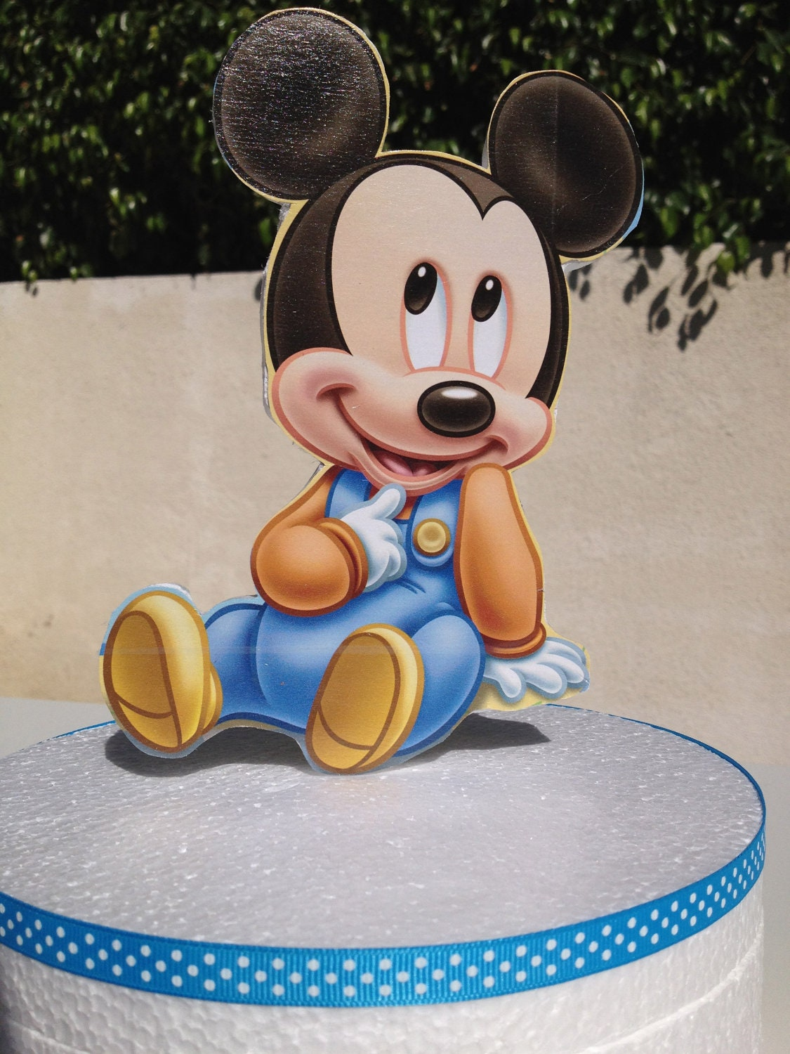 Baby Mickey Mouse Cake Topper for Baby by uniqueboutiquebygami