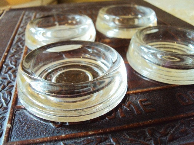 Vintage Glass Casters Furniture Coaster By Primitivepincushion