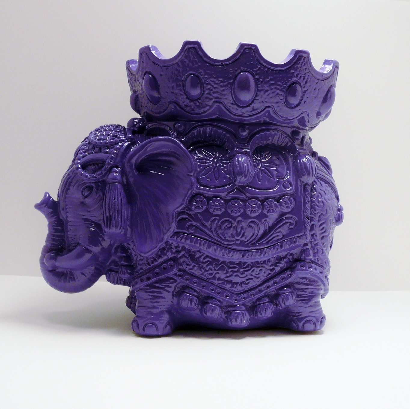 Bohemian Elephant Figurine Purple Home Decor By Nashpop