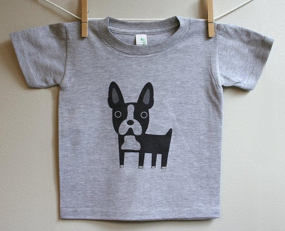 Kids boston terrier t shirt 2t 3t 4t by squarepaisleydesign for Boston rescue 2 t shirt