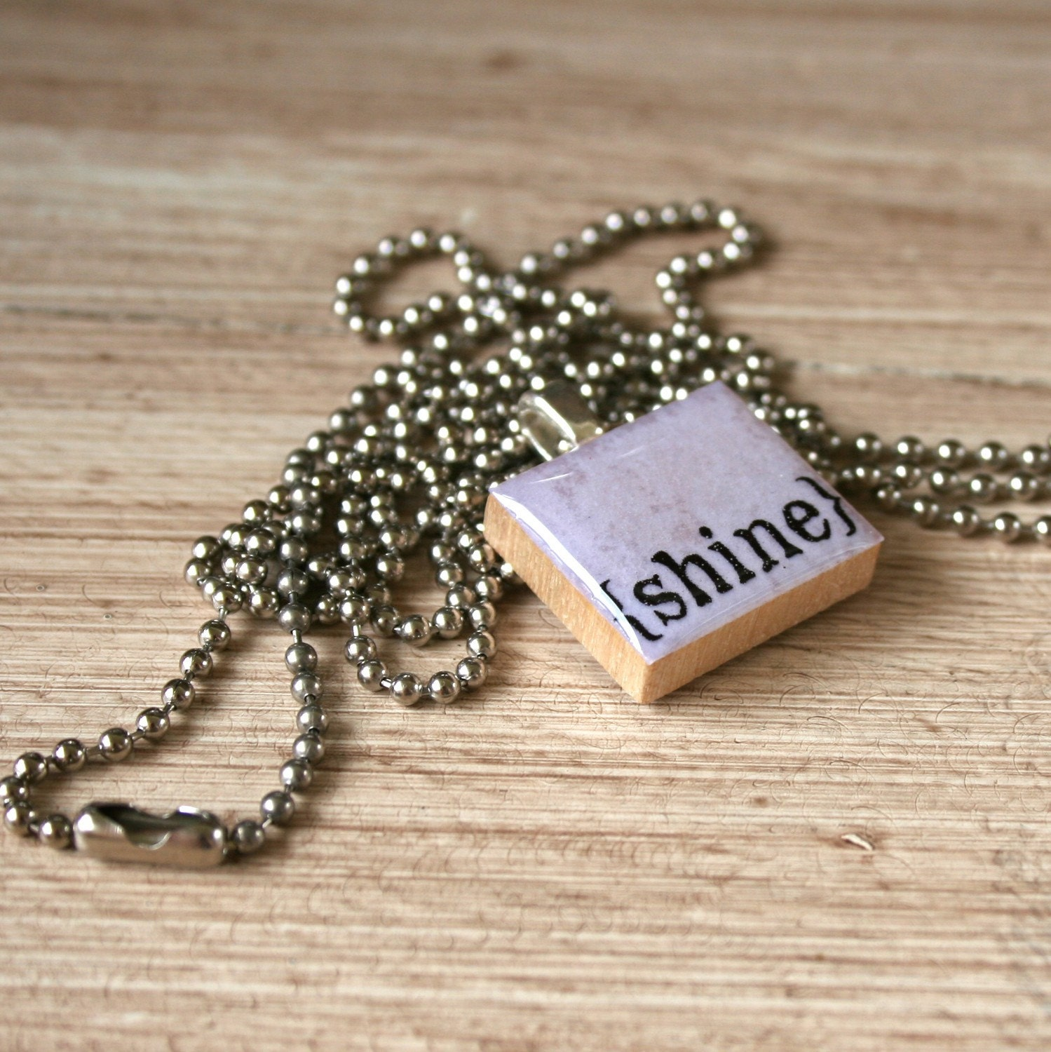 Scrabble (SHINE) necklace