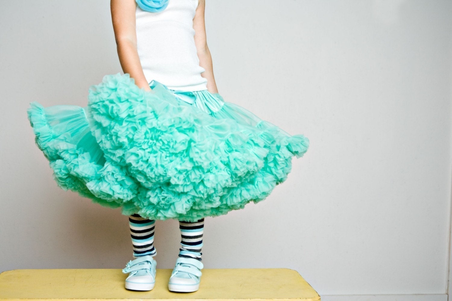 Sweetheart Pettiskirt by Dreamspun - Carribean Turquoise Blue Green