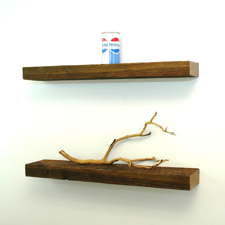 floating reclaimed wood shelves by christopheroriginal on etsy. Black Bedroom Furniture Sets. Home Design Ideas
