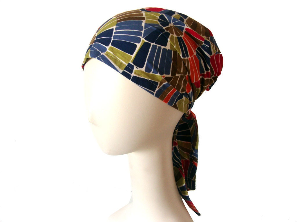 Pretty Head Scarf Blue Orange Green Pink White Soft Cotton Head Cover White Head Scarves Women