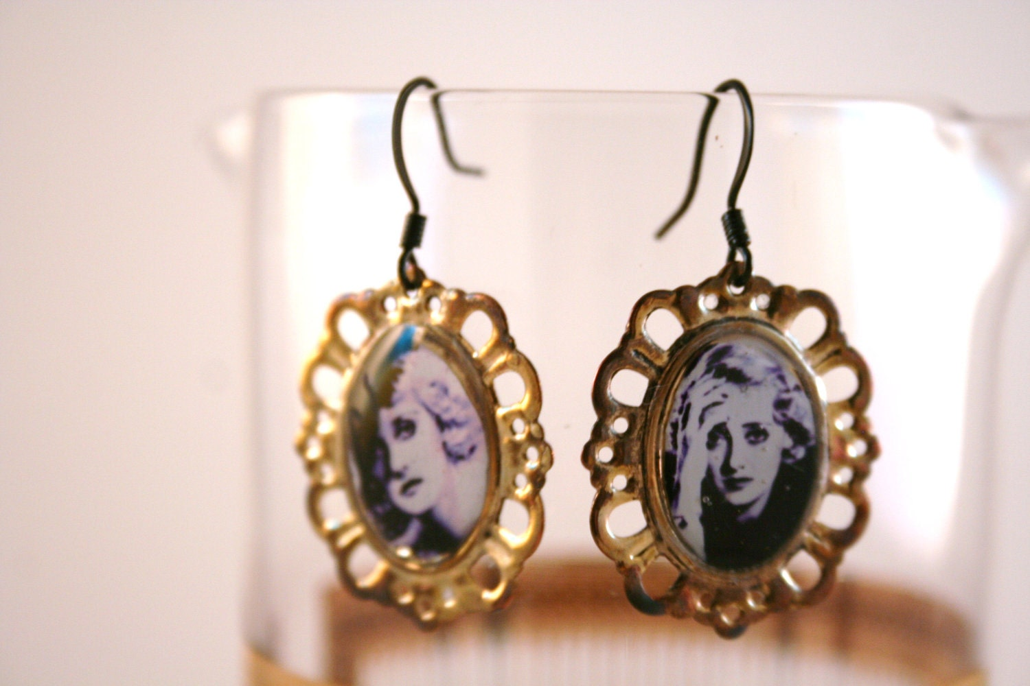 1940's Old Hollywood Earrings vintage Photograph Betty Davis