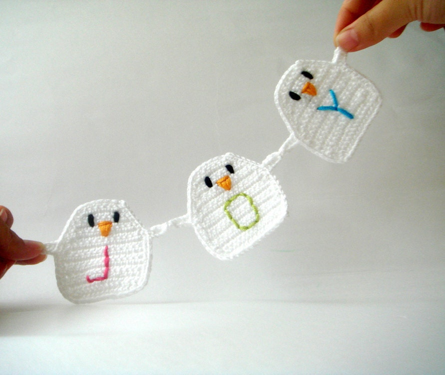 Personalized   Birds Garland