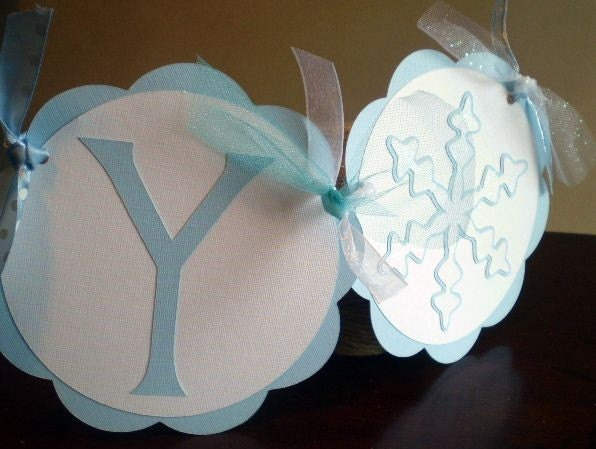 Winter Wonderland Party Banner - Snowflake - Light Blue - Reserved for MEDINA0321