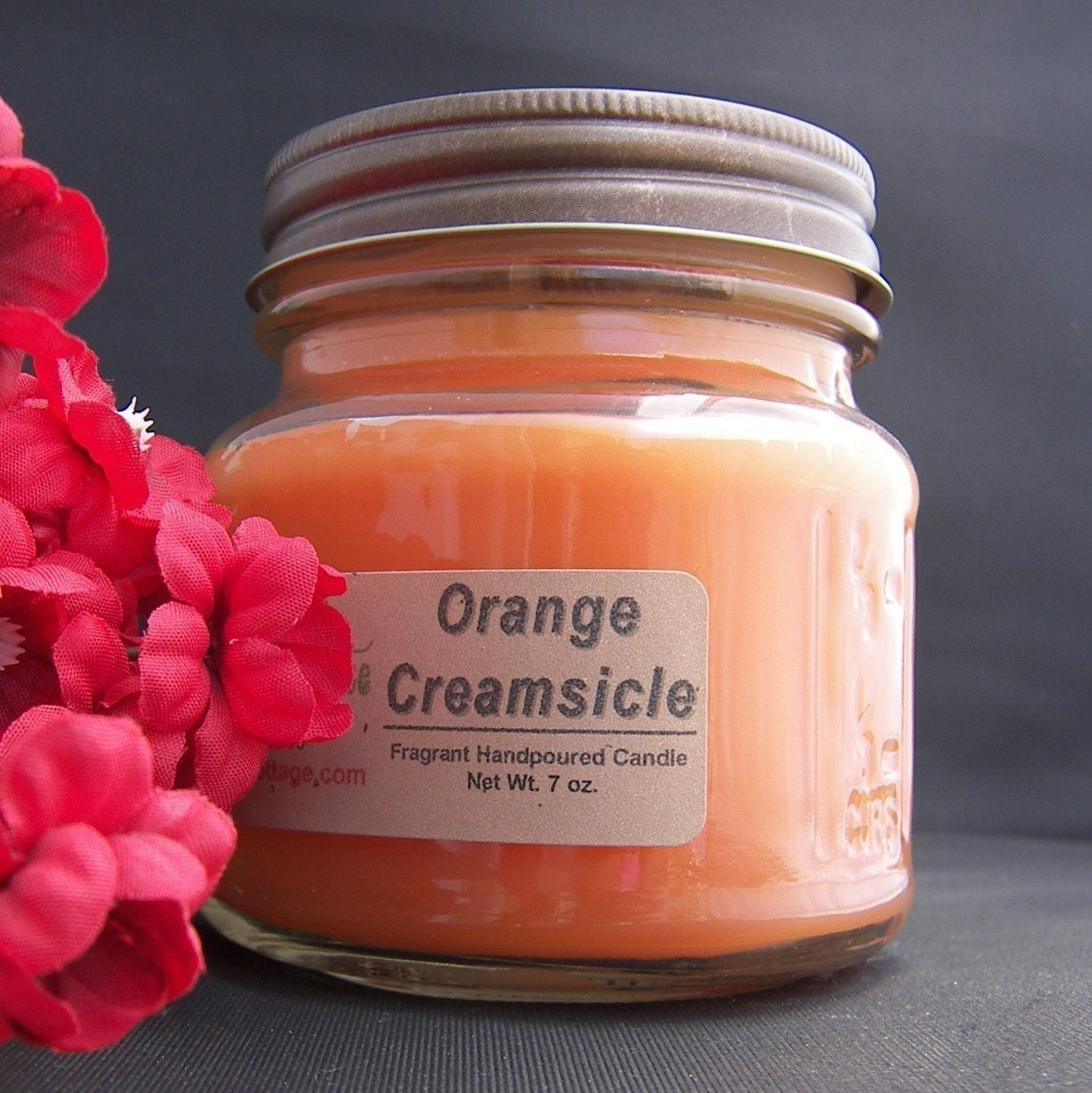 ORANGE CREAMSICLE CANDLE Strong Vanilla by AJsCountryCottage