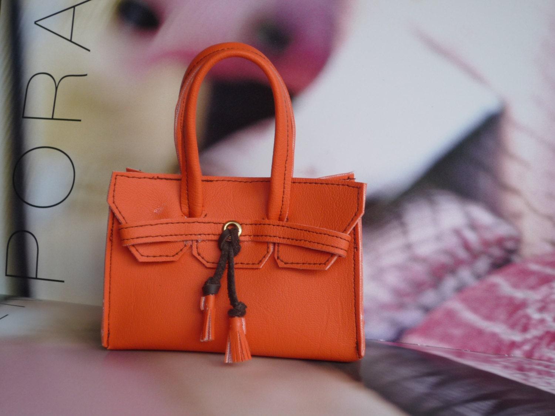 DOLL Birkin style orange HANDBAG American Girl My Friend Cayla Our Generation.18 inch Doll Accessories....