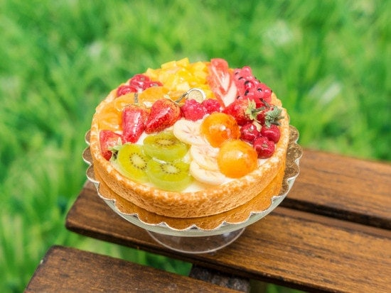 Tarte aux Fruits - Tutti Frutti - French Summer Fruit Tart - Miniature Food in 12th Scale