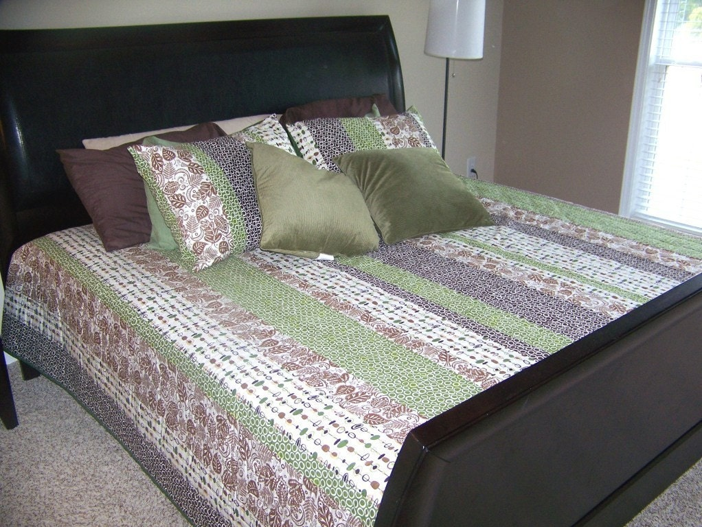 Custom Orders Only - Adrienne Queen Quilt and Quilted Shams - Completely customized with fabrics of your choice