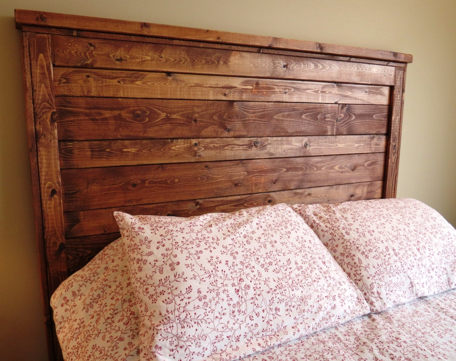 Items Similar To Rustic Distressed Wood Queen Headboard