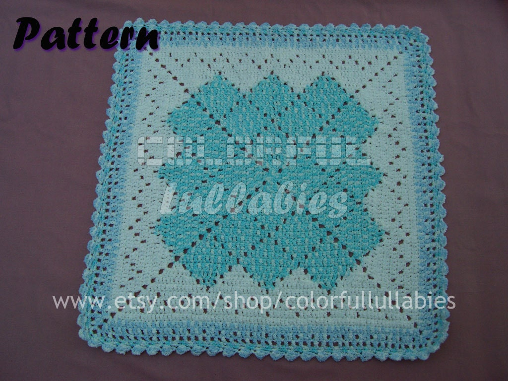 PDF Crochet Pattern. Baby blanket by ColorfulLullabies on Etsy