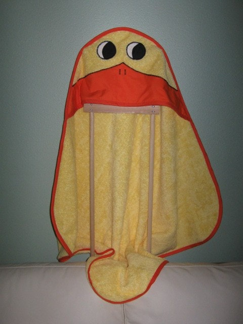 Hooded Bath Towel for Baby or Toddler / Duck