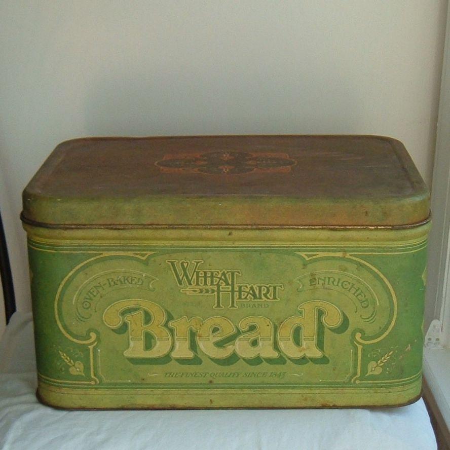 SALE...Vintage metal bread box by ImSoVintage on Etsy