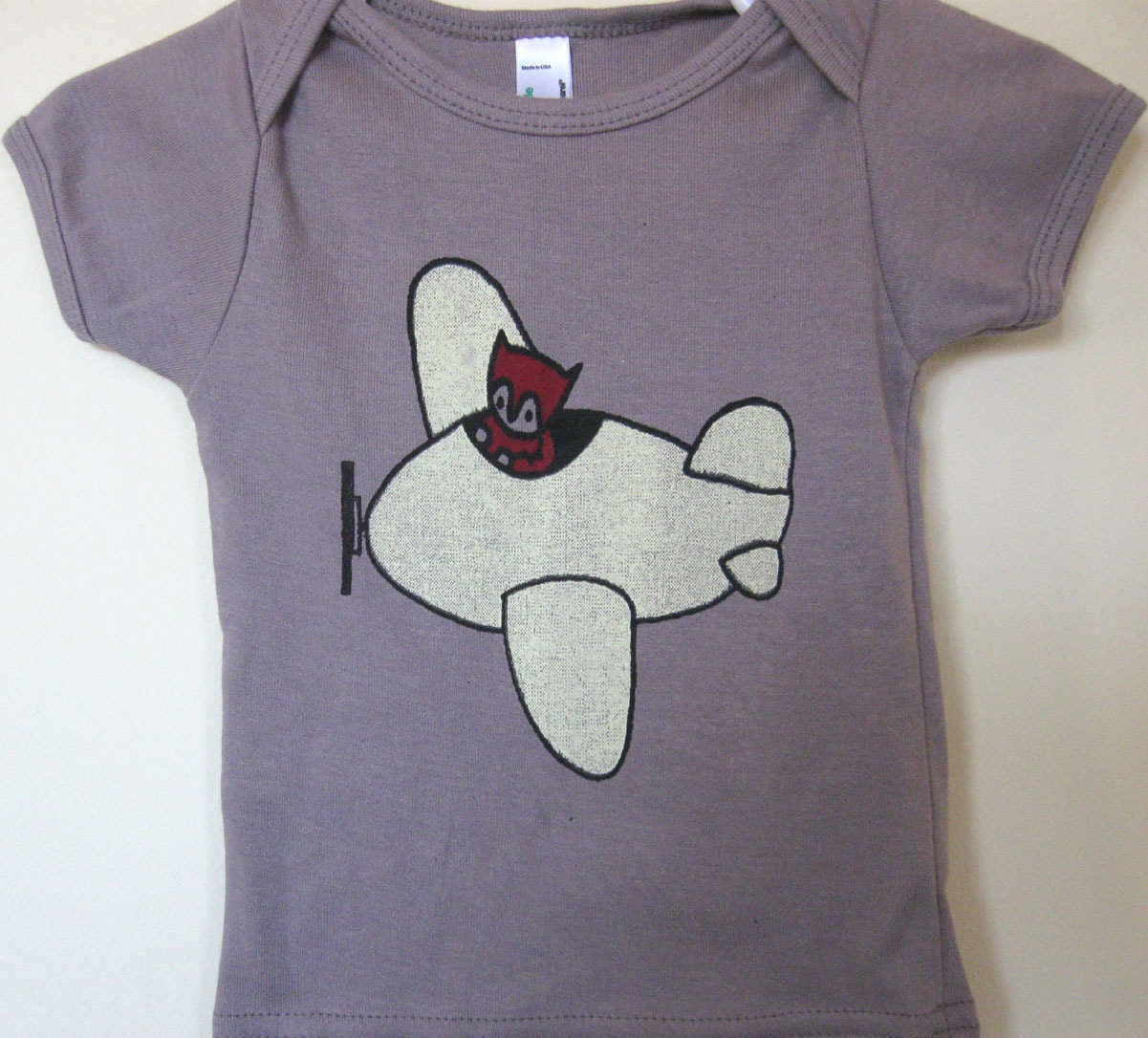 Organic Cotton Shirt Flying Fox for Baby or Child - alexandandy