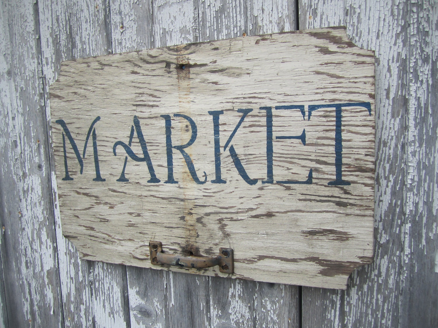 MARKET - Handpainted Sign - Vintage Sign Salvage