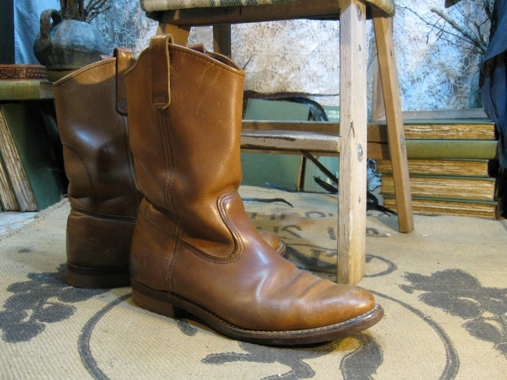 Red Wing Boots Pecos Cork Roper Vintage 10 By Funkomavintage