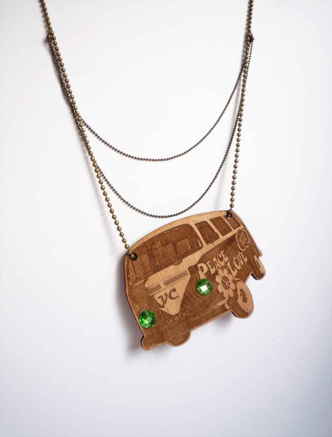 Vintage Van Necklace (w/personalized engraving)