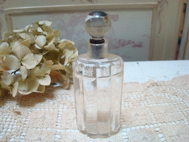 Vintage Glass Perfume Bottle