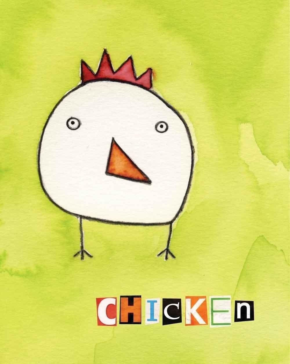 Chicken - watercolor print