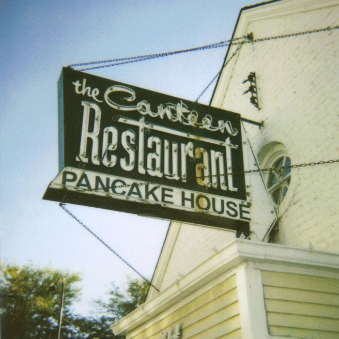 Pancake House -- 6x6 Polaroid Photo Print