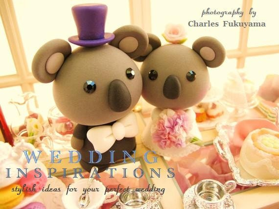 LOVE ANGELS Wedding Cake Topper-love Koala