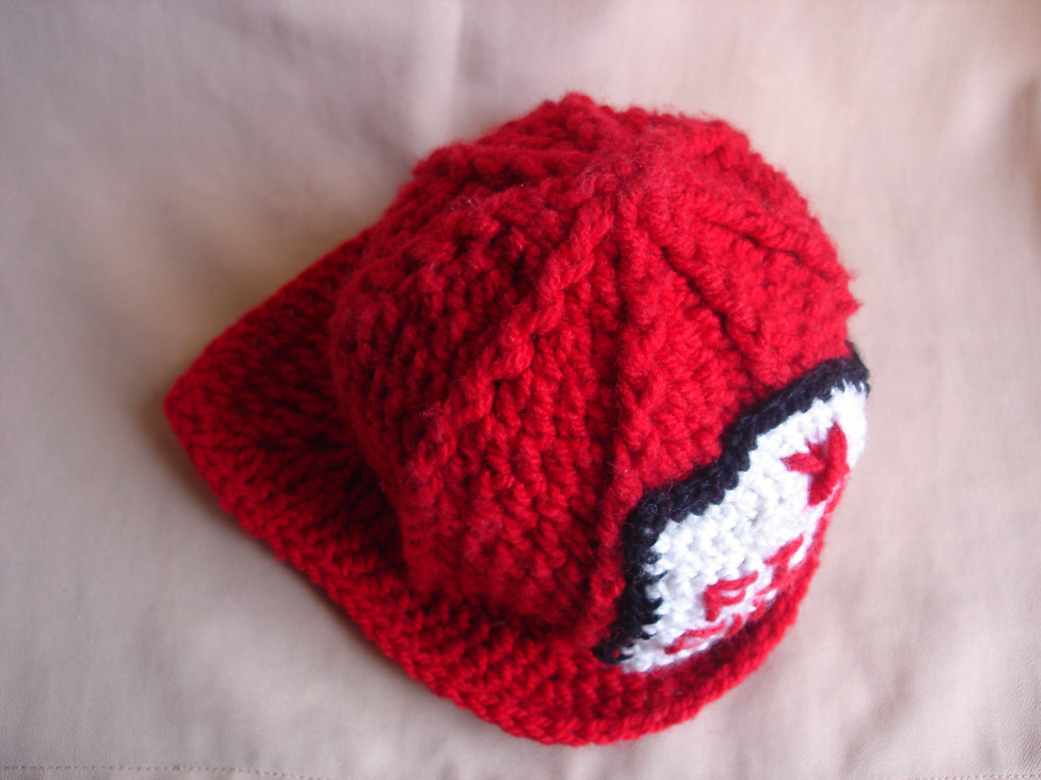 Crochet Pattern For Baby Fireman Hat : CROCHET PATTERN Crochet fireman hat pattern by Thehobbyhopper
