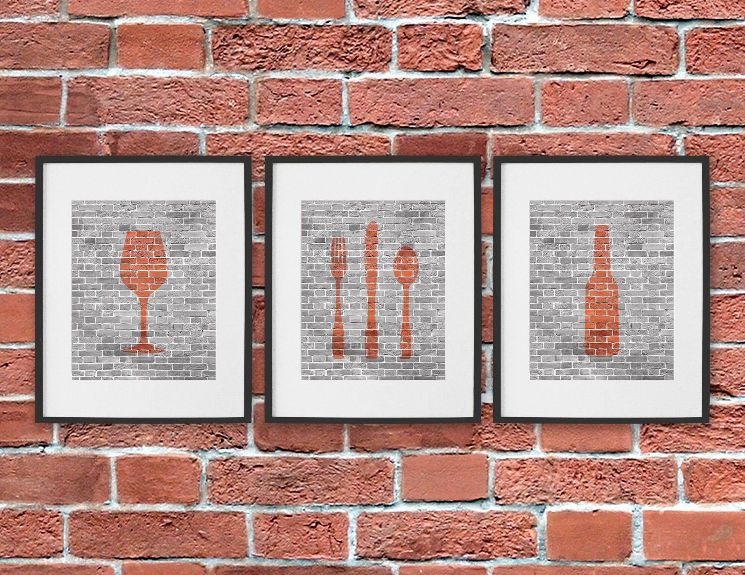 Dining Room Art Kitchen Prints Beer Wine By DaphneGraphics