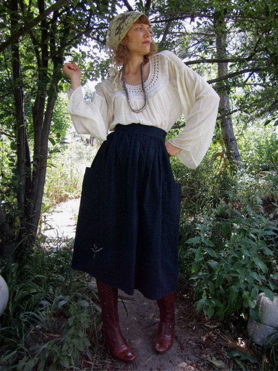 Black Cotton NICO WALKS THE MOORS Skirt