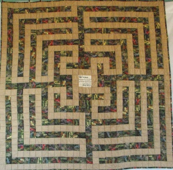 Labyrinth Garden Prayer Quilt