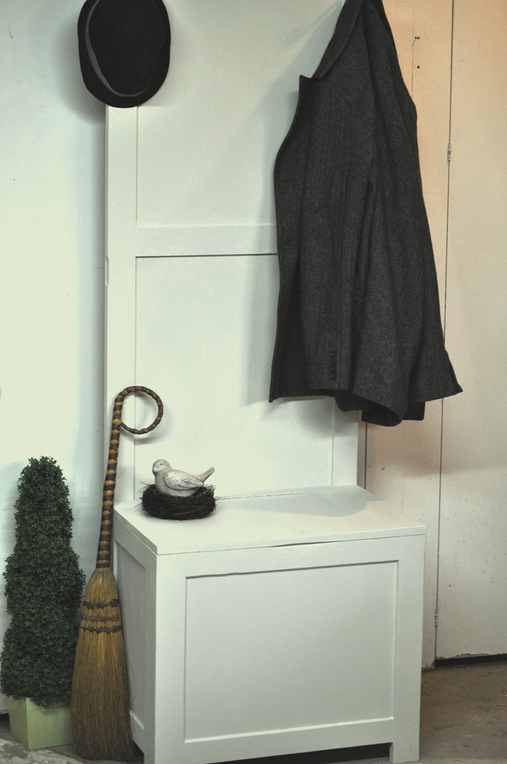 Foyer storage bench hall tree coat rack by thevelvetbranch - Adding character to your hallway with a hall tree ...