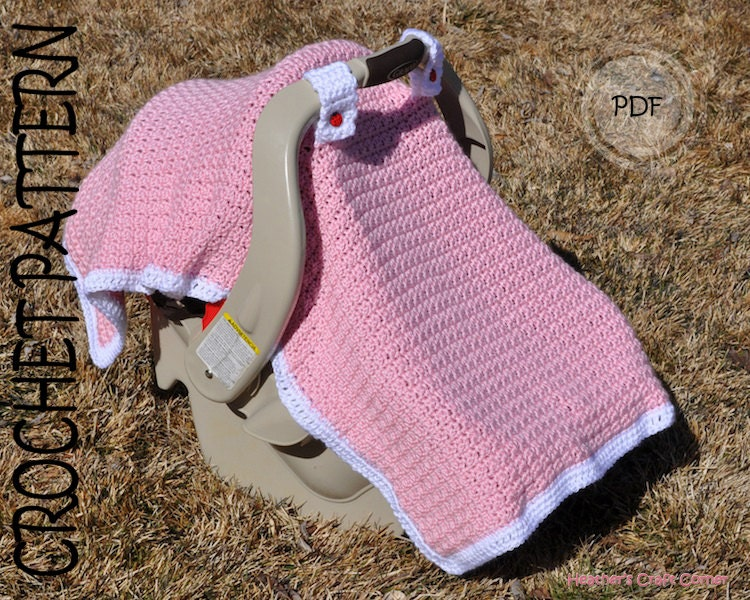 Free Knitting Pattern For Baby Car Seat Blanket : CROCHET PATTERN Baby-licious Car Seat by HeathersCraftCorner