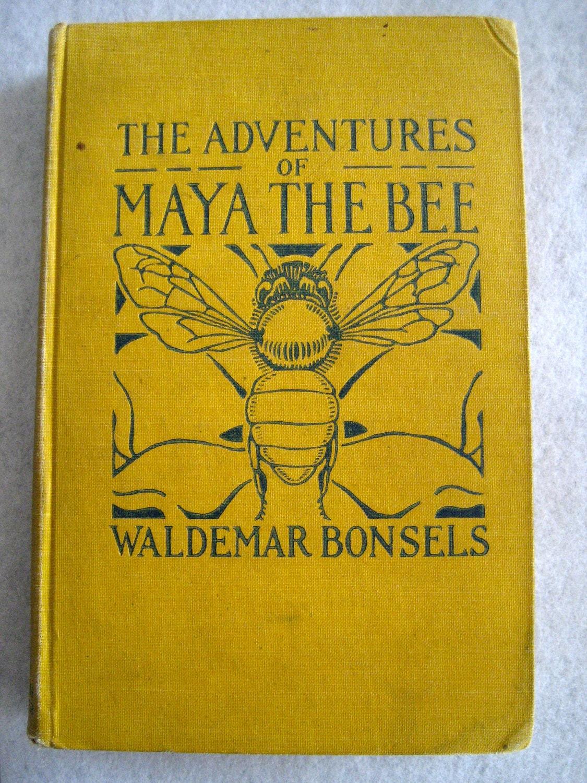 Vintage Children's book - The Adventures of Maya the Bee (Copyright 1922) - Peligraphics