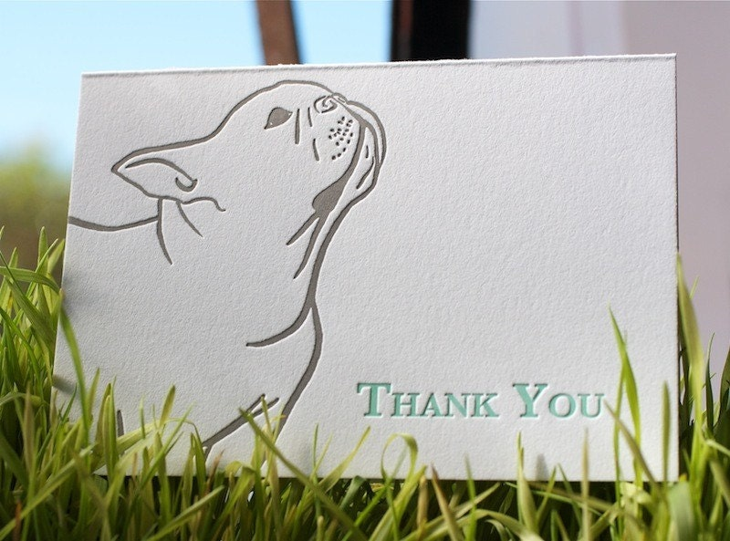 French bulldog thank you card