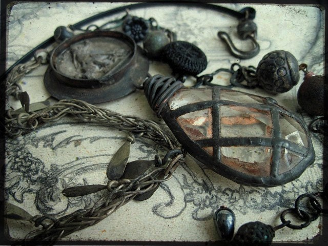 A Great Fall. Victorian Tribal Assemblage Necklace.