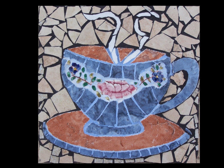 Coffee Cup Mosaic By Katesutcliffemosaics On Etsy