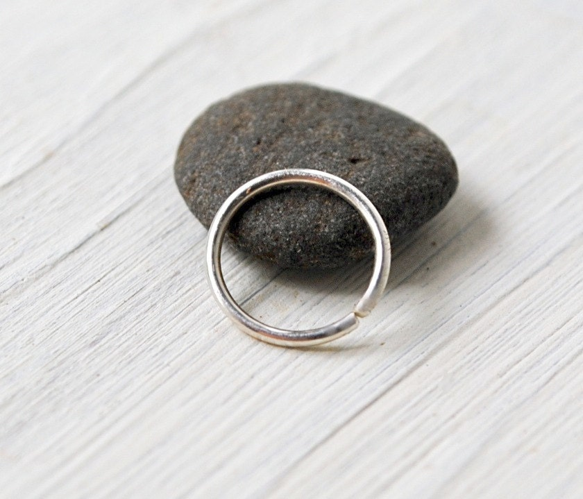 silver nose ring nose hoop thin by tiffanyannestudios on etsy