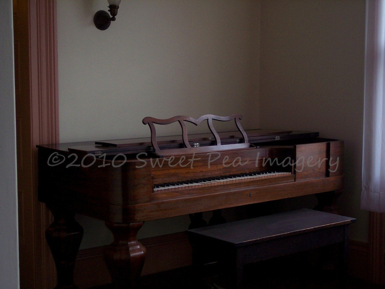 Piano Forte - Antique Piano 8X10 Fine Art Photographic Print
