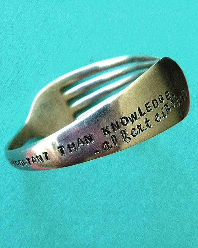 EinZtein Quote Fork Bracelet