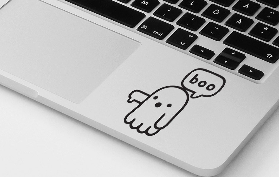 Funny macbook decal pro air ghost vinyl sticker decal mural transfer graphic laptop notebook skin Asus HP Toshiba Dell decal