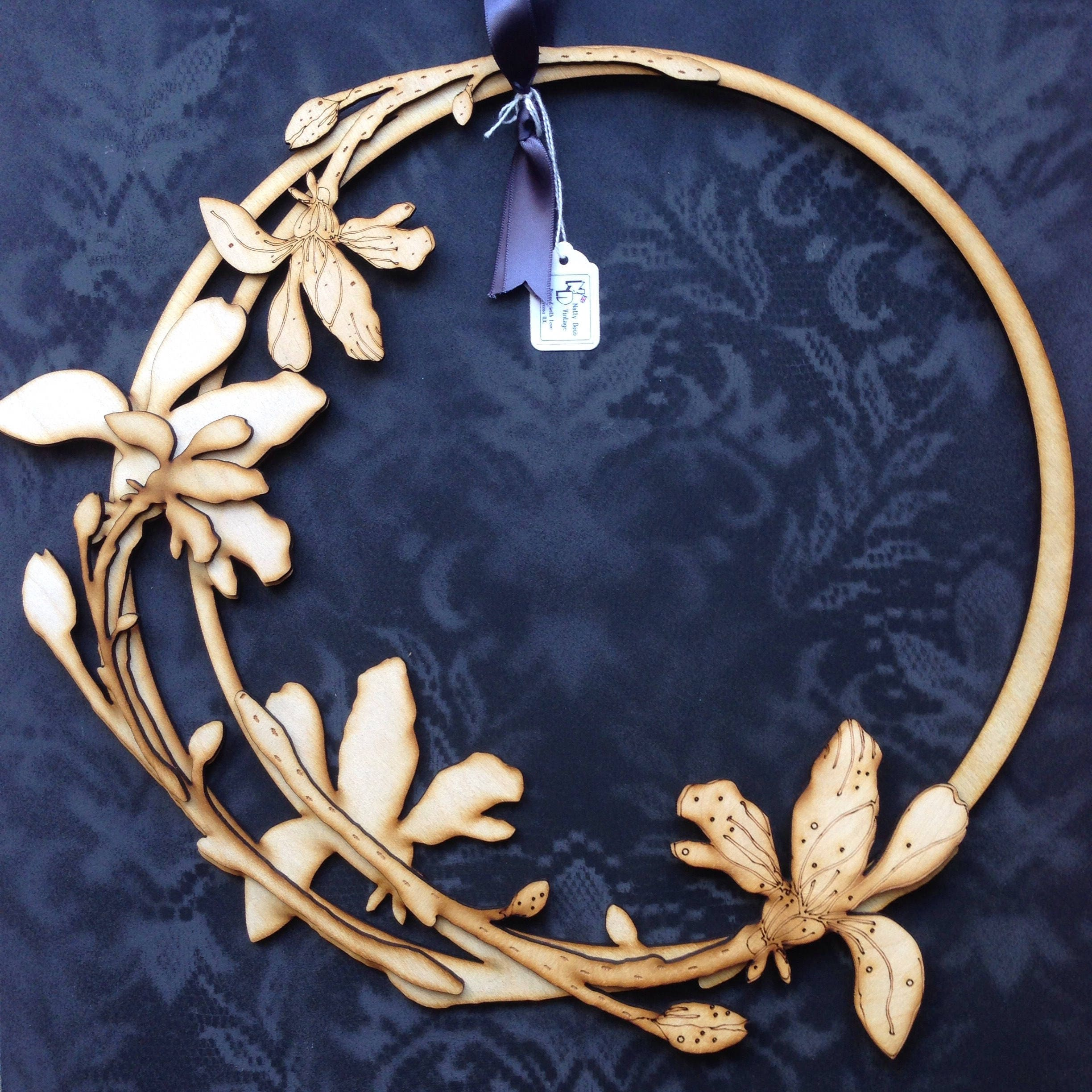 Beautiful Laser Cut Floral Wreath