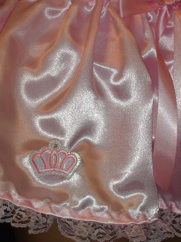 Adult bABy Sissy PRINCESS CROWN Skirt, Pink Satin Micro Mini Skirt