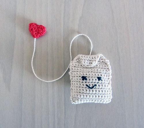 Handmade Crochet Bags : Items similar to Handmade Crochet Amigurumi Play Food Tea Bag on Etsy